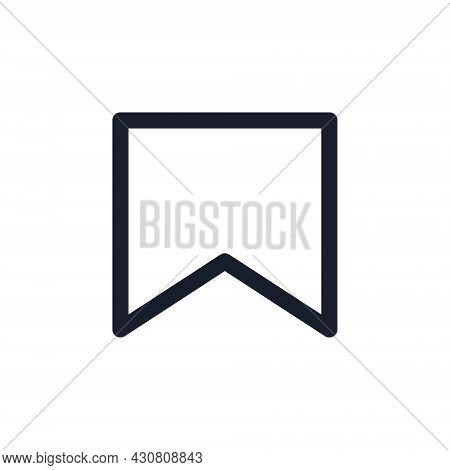 Kyiv, Ukraine - August 1, 2021: Bookmark Black Line Icon. Popular Instagram Media Element. Instagram