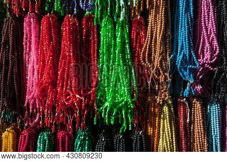 Colourful Rosaries : People Are Using This Rosaries After Pray In Mosque