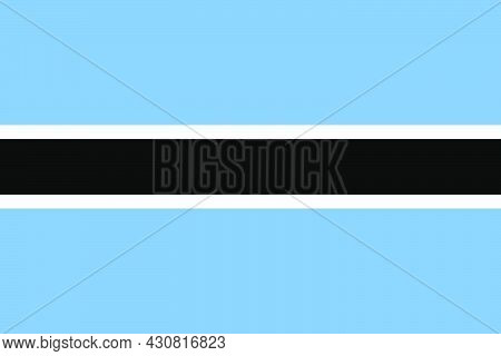 Flag Botswana Vector Illustration Symbol National Country Icon. Freedom Nation Flag Botswana Indepen