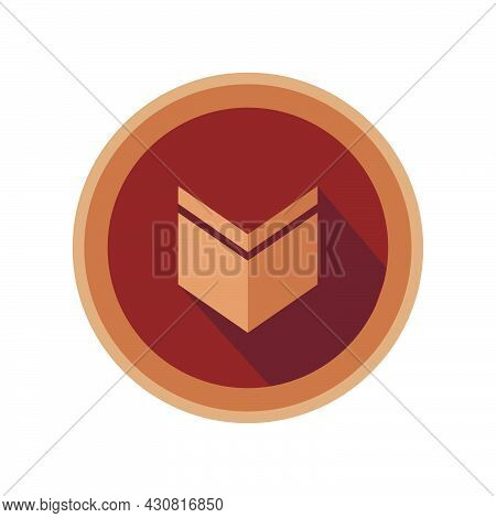 Bronze Medal Award Vector Success Symbol Badge Icon Achievement Competition. Sport Winner Sign Isola
