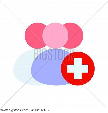 Add User Person Icon Avatar Illustration Business Symbol. Profile Add User Human Plus Friend Member
