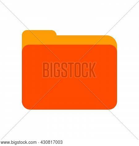 Yellow Folder Document Paper Vector Icon Illustration Design. Business Folder Computer Sign Datum. O