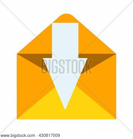 Envelope Mail Paper Communication Isolated White Letter Message. Business Envelope Mail Icon Post Of