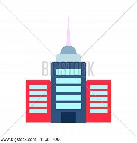Building Vector Icon City Architecture Skyscraper Illustration House. Office Apartment Building Icon