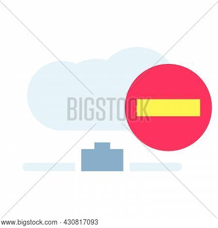 Data Cloud Technology Datum Vector Icon Business Computer Communication Illustration. Information Da