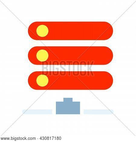 Database Data Vector Icon Technology Information Internet Storage. Network Server Database Web Icon