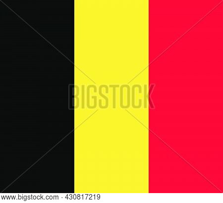 Flag Belgium Vector Illustration Symbol National Country Icon. Freedom Nation Flag Belgium Independe