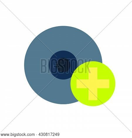 Disc Icon Dvd Vector Illustration Circle Datum Information Compact Cd Media. Music Equipment Record