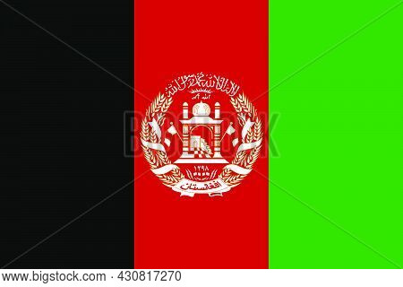 Flag Afghanistan Vector Illustration Symbol National Country Icon. Freedom Nation Flag Afghanistan I