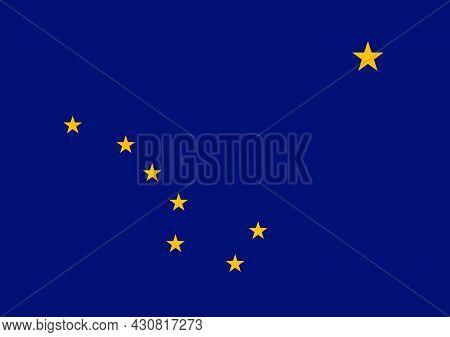 Flag Alaska Vector Illustration Symbol National Country Icon. Freedom Nation Flag Alaska Independenc