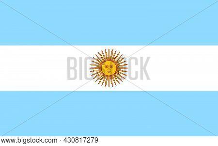 Flag Argentina Vector Illustration Symbol National Country Icon. Freedom Nation Flag Argentina Indep
