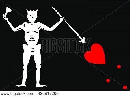 Flag Blackbeard Vector Illustration Symbol National Country Icon. Freedom Nation Flag Blackbeard Ind