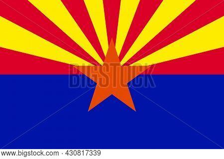 Flag Arizona Vector Illustration Symbol National Country Icon. Freedom Nation Flag Arizona Independe