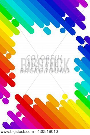 Abstract Background Pattern. Colorful Diagonal Stripes, Rainbow Gradient. Template Design For Public