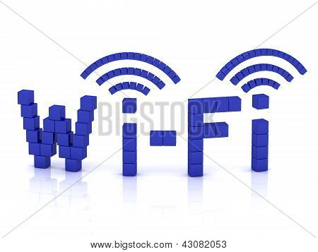 Wi Fi Of Cubes With Antennas