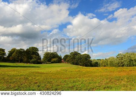 Historic Battlefield In Minute Man National Historical Park, Concord, Massachusetts Ma, Usa.