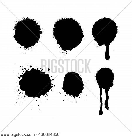 Spray Paint Burst Textures With Overspray. Highly Detailed Vector Textures Taken From High Res Scans