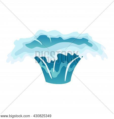 Water Splash Animation. Dripping Water Special Effect. Fx Sheet. Clear Water Drop Burst For Flash An