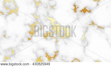 Gold Marble Texture Background. Abstract Backdrop Of Marble Granite Stone. Vector Illustration