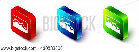 Isometric Music Wave Equalizer Icon Isolated On White Background. Sound Wave. Audio Digital Equalize
