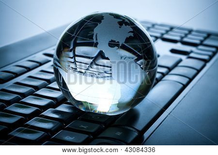 Globe And Keyboard