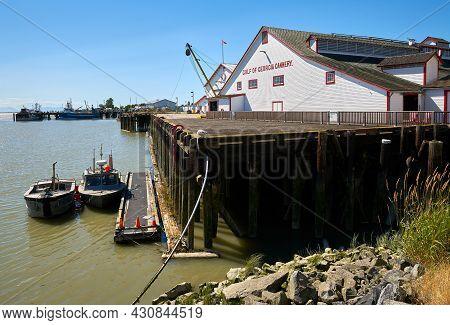 Richmond, British Columbia, Canada - July 13, 2018. Gulf Of Georgia Cannery Richmond. The Gulf Of Ge