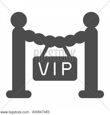 Fencing, Barrier, Only For Vip Guest Solid Icon, Celebrity Concept, Vip Zone Stanchion Vector Sign O
