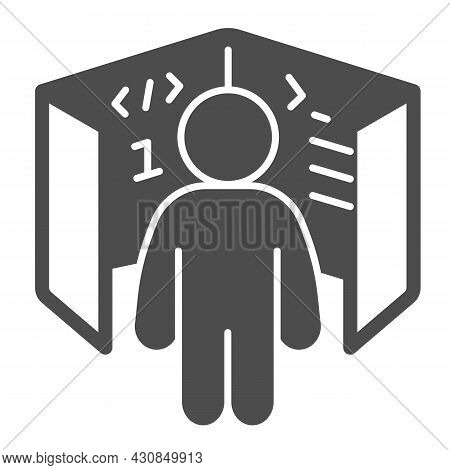 Ui Ux Designer, Cube With Code References, Board Solid Icon, It Concept, Web Developer Vector Sign O