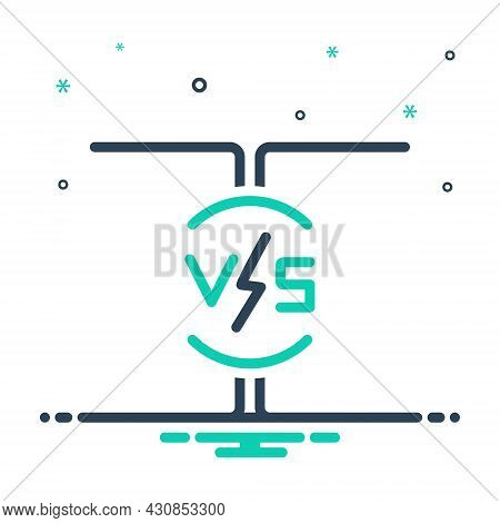 Mix Icon For Vs Versus Competition Battle Challenge Contest Comparison