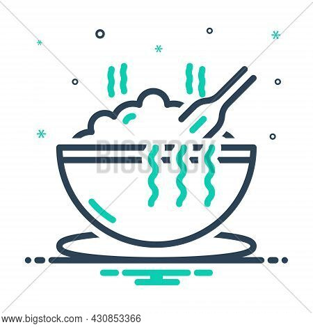 Mix Icon For Meal Hot Bowl Eat Consume Noddle Swallow Feast-on Imbibe Lunch Junket Food
