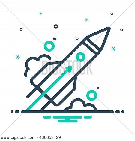 Mix Icon For Beginning Inception Kickoff First-part Start Launch Rocket Outset Commencement
