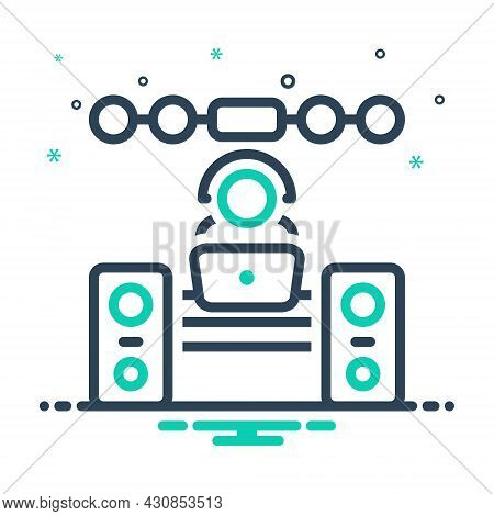 Mix Icon For Operator Sound-system Music Dj Concert Manipulator Keeper Support People Helpdesk