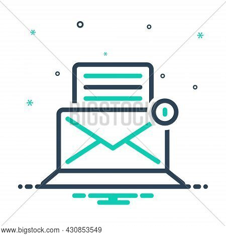 Mix Icon For E-mail Post Letter Messages Text Document Spam Envelope