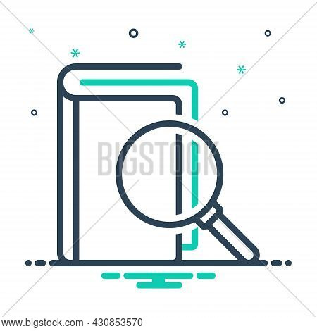 Mix Icon For Meaning Sense Interpretation Definition Magnifying-glass