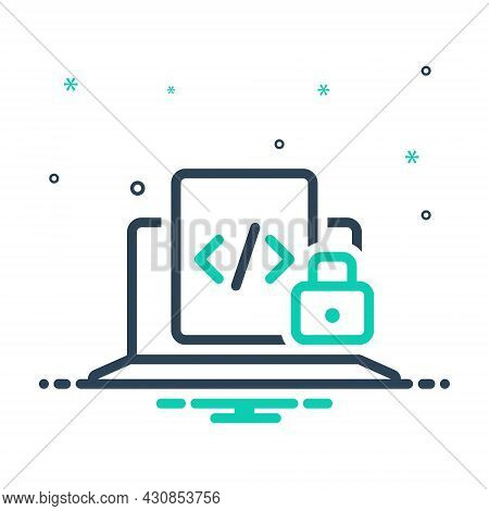 Mix Icon For Refer-secure Refer Secure Safe Protected Cyber Privacy Padlock