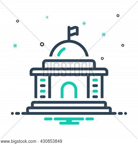 Mix Icon For Government State Polity Embassy Buildingcapitol Courthouse Architecture