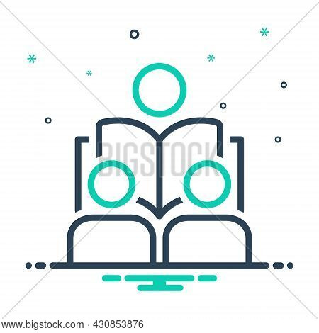Mix Icon For Lesson Seminar Student Guidance Exercise Homework Instruction Lecture Teaching
