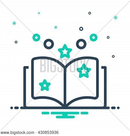 Mix Icon For Fiction Tale Saga Famous Legendary Novel Myth Legend Book Knowledge Dictionary Encyclop