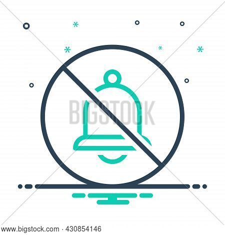 Mix Icon For None Prohibited Ban Danger Bell No Stop Risk Warning Caution Circle