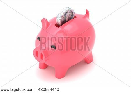 3d Render Pink Piggy Bank Isometric For Saving Money 3d Rendered Illustration. Isolated Concept Silv