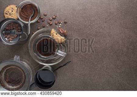 Drip Brewing, Filtered Coffee, Or Pour-over Is A Method Which Involves Pouring Water Over Roasted, G