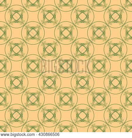 Color Geometric Pattern For Print, Textile On Brown. Fashion Graphic Design. Modern Stylish Texture.