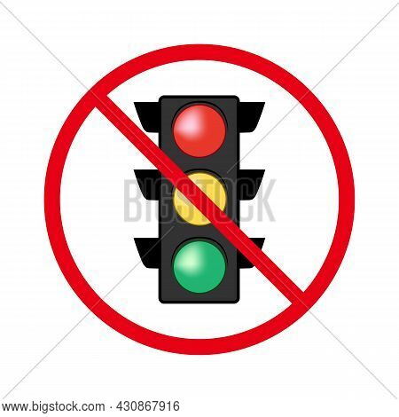 There Are No Traffic Lights, The Intersection Is Unregulated . Unregulated Road Movement. Uncontroll