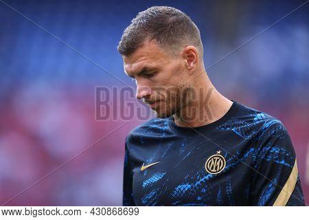 Milano, 21 August 2021. Edin Dzeko Of Fc Internazionale    During The Serie A Match Between Fc Inter