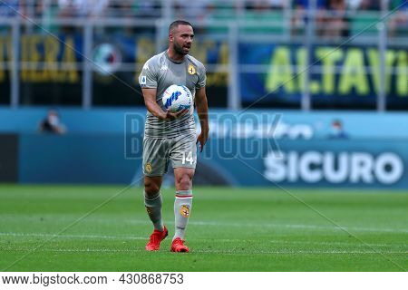 Milano, 21 August 2021. Davide Biraschi Of Genoa Cfc  Looks On During The Serie A Match Between Fc I