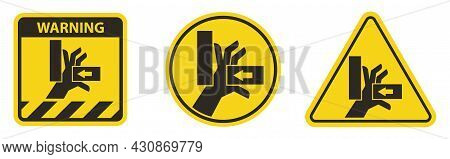 Hand Crush Force From Right Symbol Sign