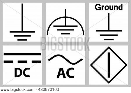 Protective Earth Ground,dc,ac Circuit Power Symbol Sign