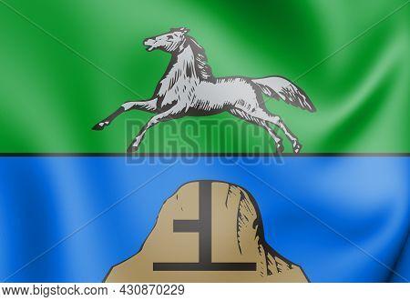 3d Flag Of Biysk (altai Krai), Russia. 3d Illustration.