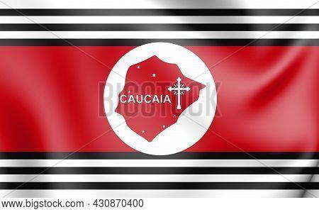 3d Flag Of Caucaia (ceara), Brazil. 3d Illustration.
