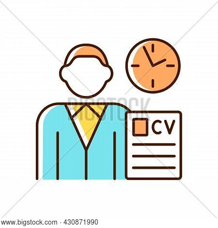 Job Applicant Rgb Color Icon. Apply For New Job. Signing Up For New Work Position. Job Opening. Send